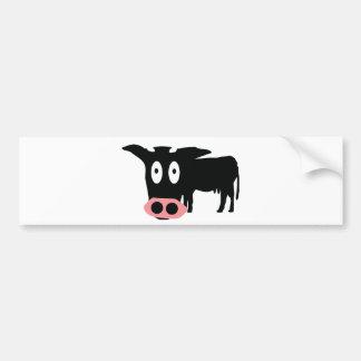 icône stupide de vache adhésif pour voiture