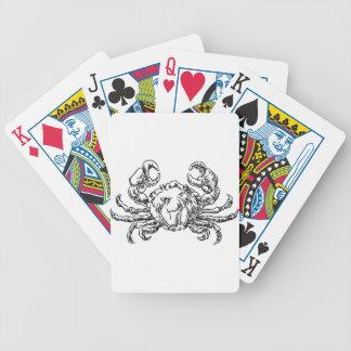 Icône tirée par la main de style grunge de jeu de cartes