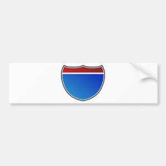 Icône vide de panneau routier d'autoroute de route autocollant pour voiture