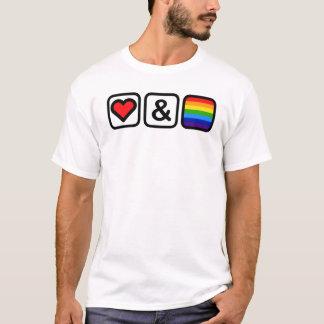 Icônes d'amour et de fierté t-shirt