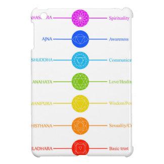 Icônes de Chakra avec des couleurs respectives Coque Pour iPad Mini