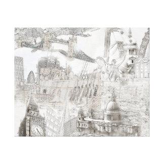 Icônes de Londres - toile d'art numérique