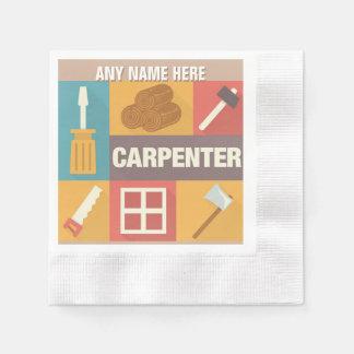 Iconique professionnel de charpentier conçu serviette jetable
