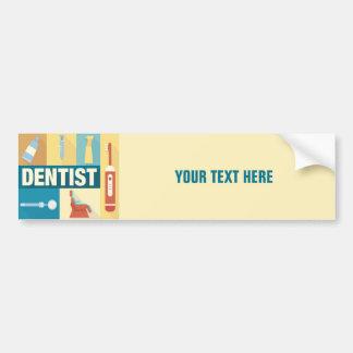 Iconique professionnel de dentiste conçu autocollant de voiture