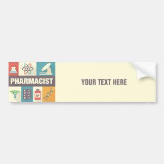 Iconique professionnel de pharmacien conçu autocollant de voiture