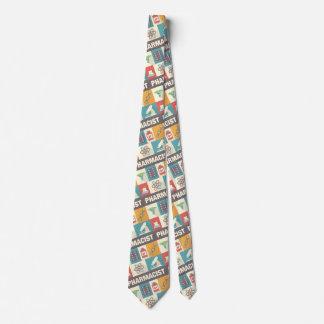Iconique professionnel de pharmacien conçu cravate