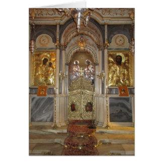 Iconostase d'église orthodoxe de salutations de carte de vœux