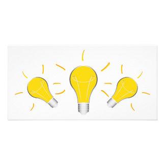 Idée créative d'ampoule cartes avec photo