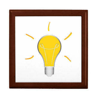 Idée créative d'ampoule grande boîte à bijoux carrée