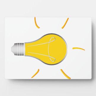 Idée créative d'ampoule impression sur plaque