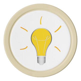 Idée créative d'ampoule jetons de poker
