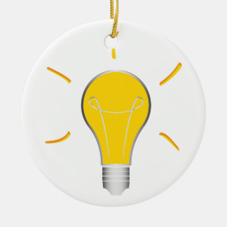Idée créative d'ampoule ornement rond en céramique