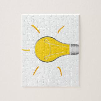 Idée créative d'ampoule puzzle