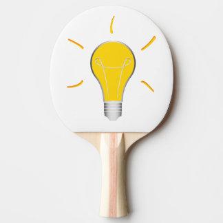 Idée créative d'ampoule raquette de ping pong
