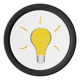 Idée créative d'ampoule rouleau de jetons de poker