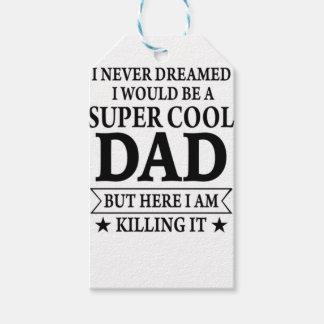 Idée de cadeau de fête des pères étiquettes-cadeau