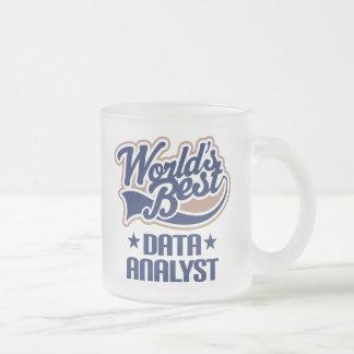 Idée de cadeau pour l'analyste de données (mondes tasse givré