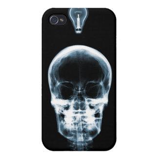 IDÉE LUMINEUSE SQUELETTIQUE DE RAYON X - BLEU COQUE iPhone 4/4S