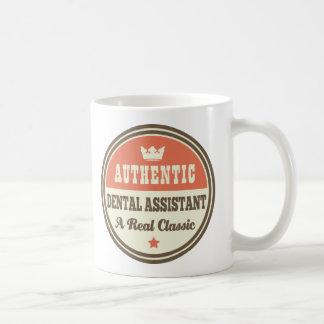 Idée vintage de cadeau d'assistant dentaire mug blanc