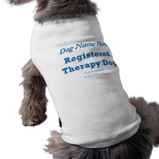 Identification de chien de thérapie t-shirt pour chien