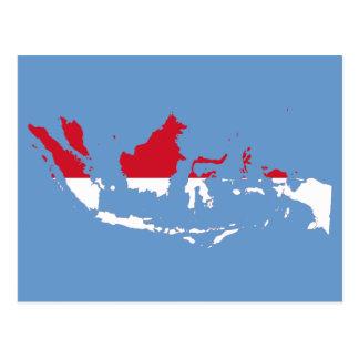 Identification de l'Indonésie, Jakarta, carte de Carte Postale