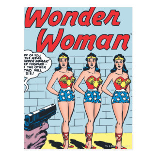 Identité de triple de femme de merveille carte postale