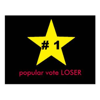 ides de carte postale de perdant de vote populaire