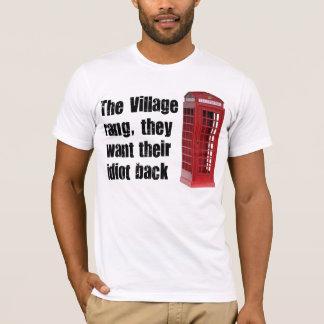 idiot de village t-shirt