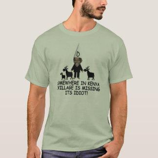 Idiot kenyan drôle anti Obama de village T-shirt