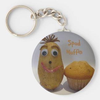 Idiot sarclez le porte - clé de petit pain porte-clés