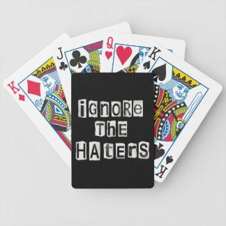 Ignorez les haters. jeu de cartes