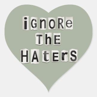 Ignorez les haters. sticker cœur