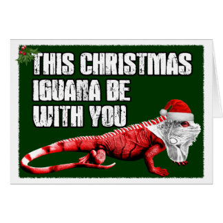 Iguane drôle cartes de vœux
