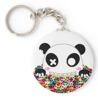 Ijimekko le panda - crânes de sucre porte-clés