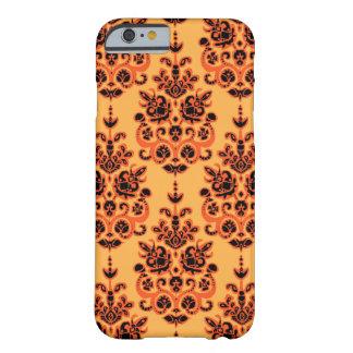 Ikat de damassé d'or de Halloween Coque iPhone 6 Barely There