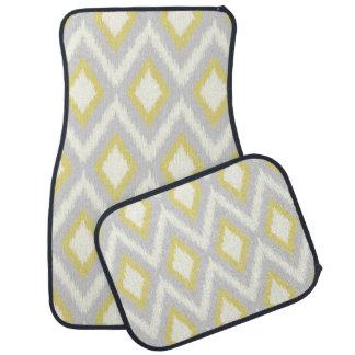 Ikat tribal gris et jaune Chevron Tapis De Voiture