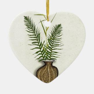 ikebana 14 par les fernandes élégants ornement cœur en céramique