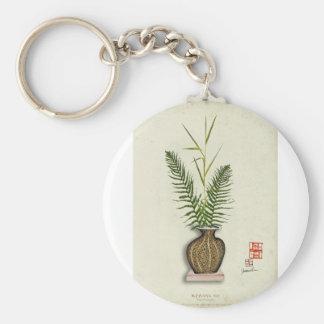 ikebana 14 par les fernandes élégants porte-clé rond