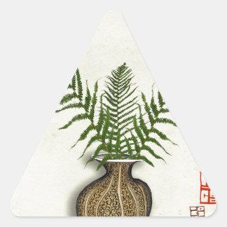 ikebana 17 par les fernandes élégants sticker triangulaire