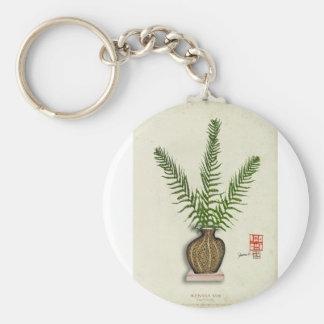 ikebana 18 par les fernandes élégants porte-clé rond