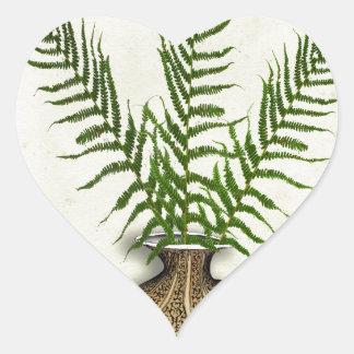 ikebana 18 par les fernandes élégants sticker cœur