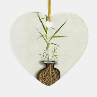 ikebana 19 par les fernandes élégants ornement cœur en céramique
