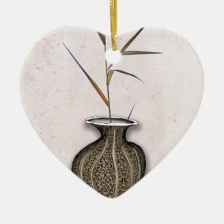 Ikebana 3 par les fernandes élégants ornement cœur en céramique