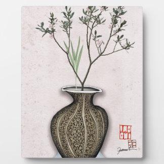 Ikebana 4 par les fernandes élégants plaque photo