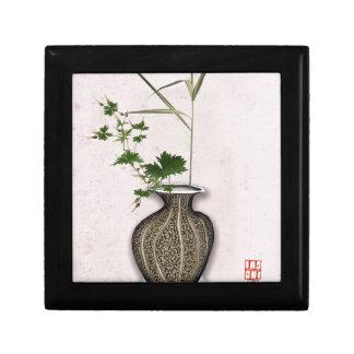 Ikebana 5 par les fernandes élégants petite boîte à bijoux carrée
