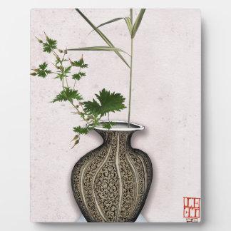 Ikebana 5 par les fernandes élégants plaque photo