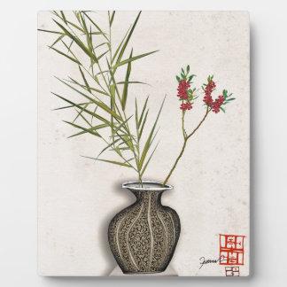ikebana 8 par les fernandes élégants plaque photo