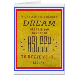 Il a appelé le rêve américain occupent Wall Street Carte De Vœux
