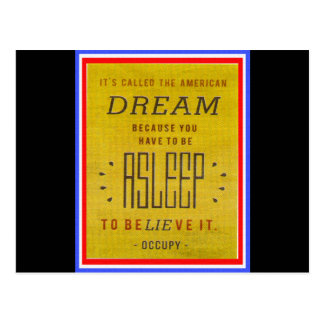 Il a appelé le rêve américain occupent Wall Street Carte Postale