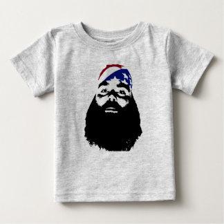 Il a eu une pleine barbe naturelle t-shirt pour bébé